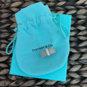 Tiffany & Co Somerset Mesh Ring with Diamonds